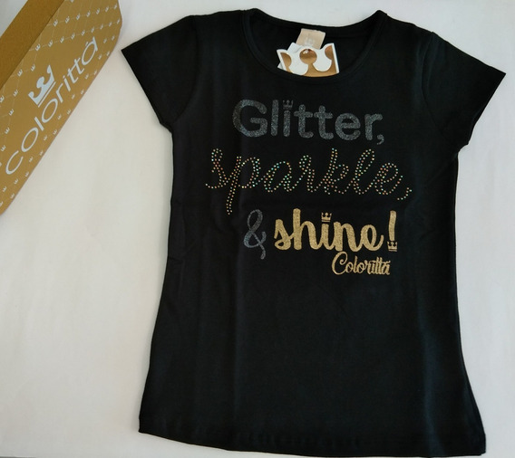 Camiseta Blusinha Feminina Infantil Meninas Colorittá 053