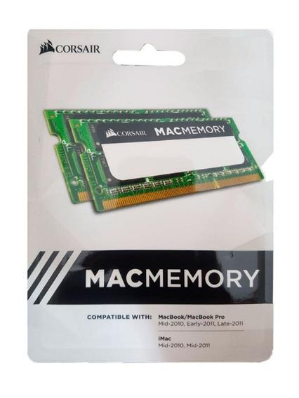 Memória Sodimm Notebook Kit 16gb (2x8) Ddr3 1333 Mac Corsair