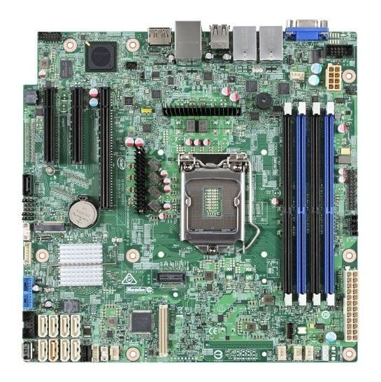 Placa Mae Servidor Intel Dbs1200splr Xeon E3-1200v5/v6 Ddr4
