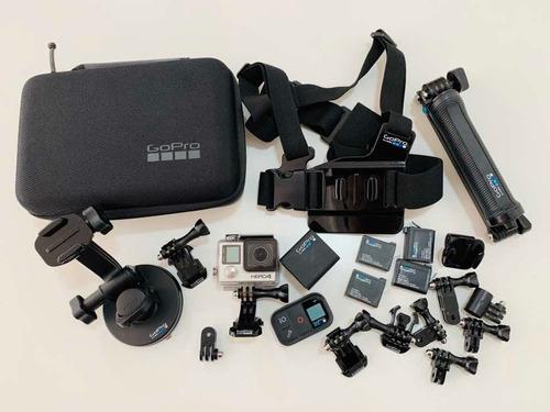 Câmera Gopro Hero4 Black + Combo De Acessórios Originais