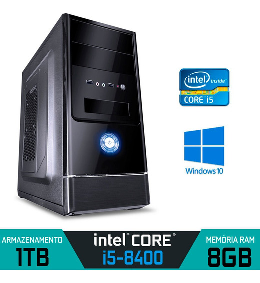 Computador Alfatec Intel Core I5-8400 Ram 8gb Hd 1tb Win 10