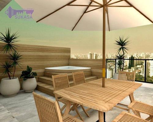 Cobertura Com 2 Dormitórios À Venda, 94 M² Por R$ 475.000,00 - Jardim - Santo André/sp - Co0499