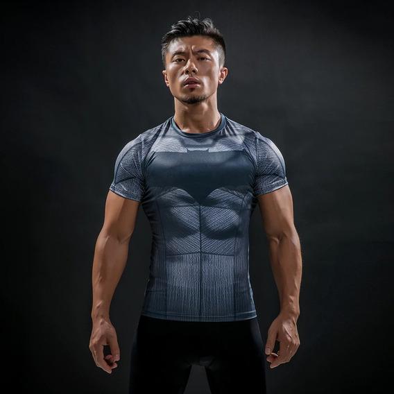 Polera Musculosa Sudadera Batman Dc Gimnasio Gym