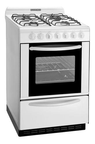 Cocina Domec CBUPLEV  multigas 4 hornallas  blanca 220V puerta  con visor