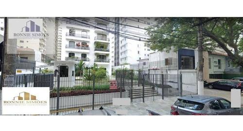 Imagem 1 de 1 de Apartamento À Venda Em Moema, Edifício Renata, 4 Dormitórios Sendo 1 Suíte, Sala Para 3 Ambientes, 4 Banheiros, 3 Vagas Na Garagem, 130 M², São Paulo. - Ap1184