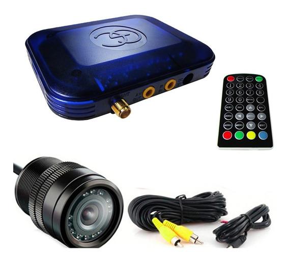 Câmera Ré Colorida Universal + Receptor Tv Digital Veicular
