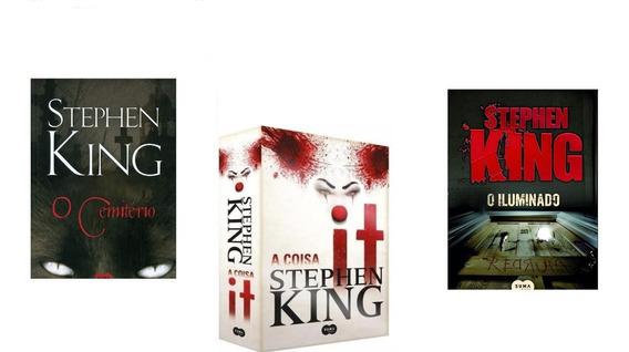 Livro - O Iluminado Stephen King+ It. A Coisa+o Cemitério