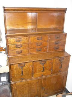 Antigua Biblioteca Archivo Thompson,modular De 4 Cuerpos
