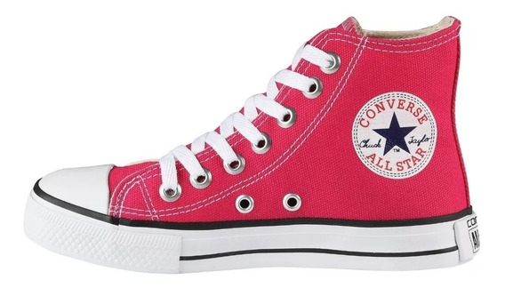 Tênis Converse All Star Bota Rosa Pink Frete Grátis