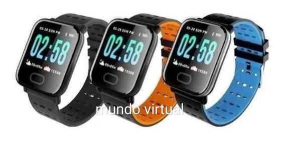 Relógio Inteligente A6 Pressão Arterial E Monitor Cardiaco