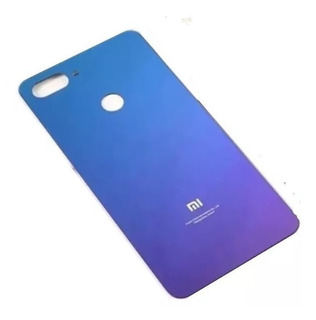 Tampa Traseira De Vidro Da Bateria Xiaomi Mi 8 Lite Cor Roxo