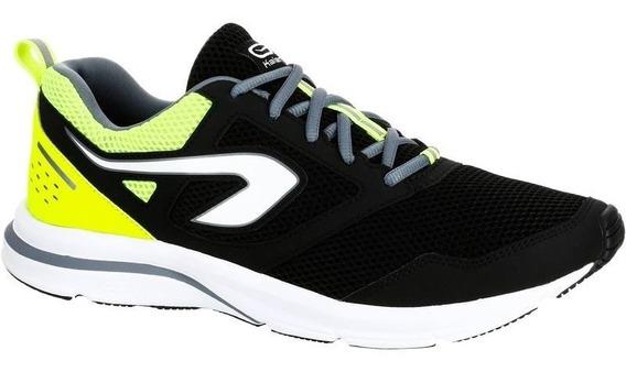 Tenis De Running Hombre Run Active Negro Amarillo 8488626 2