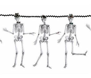 Temática Coco. Guirnalda Esqueletos Importada. Halloween