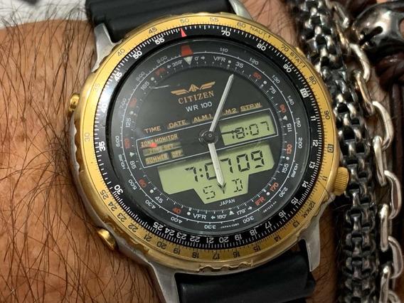 Citizen Wingmam C080 Série Ouro Wr100m Japan