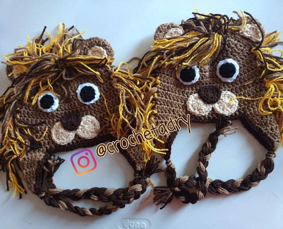 Gorro León Crochet