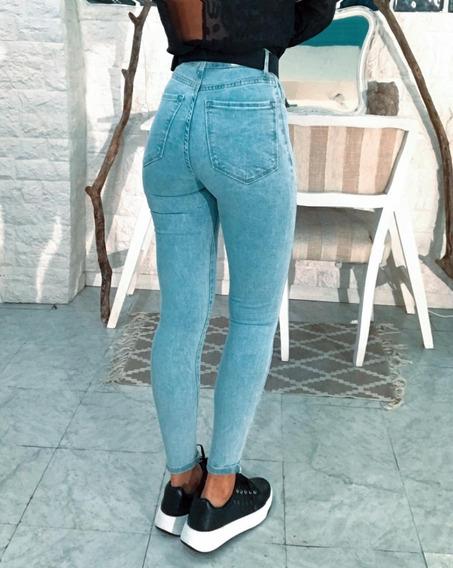 Jeans Elastizado Tiro Alto Excelente Calce Chupin Art 7068