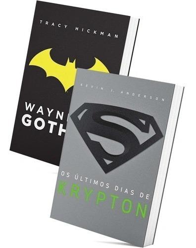 Box Livro Wayne De Gotham E Ultimos Dias De Krypton Camiseta