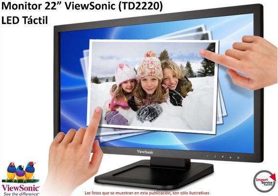 Monitor 22 Viewsonic (td2220) Led Táctil Full Hd Dvi Y Vga
