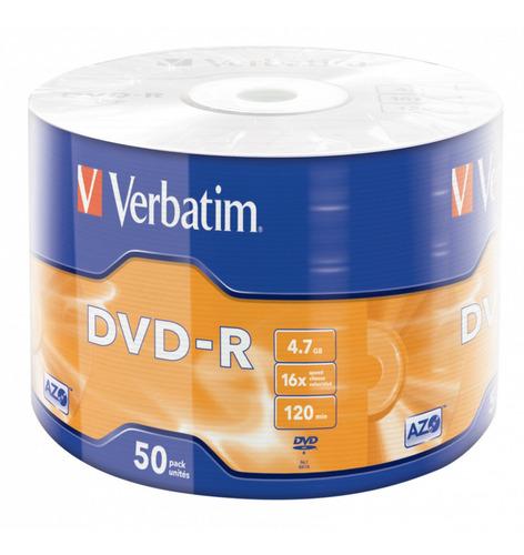 Dvd Verbatim Estampado 4,7gb 16x 120 Min Bulk 50 Ud