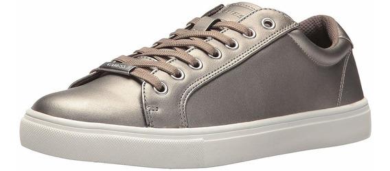 Guess Zapatos Mens Tracker Silver Talla 46 Original (45 Usd)
