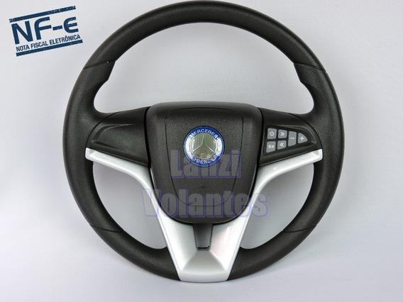 Volante Esportivo Cruze Prata Comando De Som Mercedes Benz