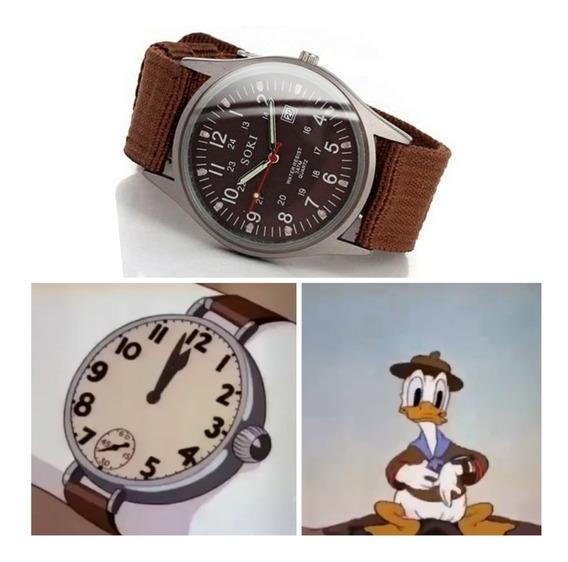 Relógio Masculino De Pulso Soki Luminous Unissex Marrom