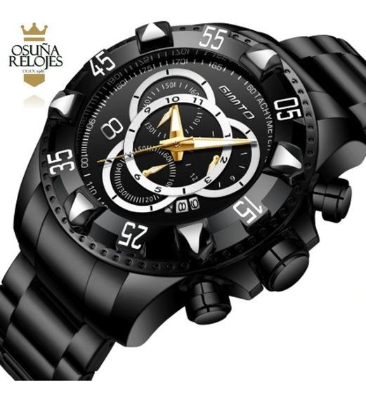 Relógio Gimto Reserve Gm259 De Luxo Para Homens De Bom Gosto