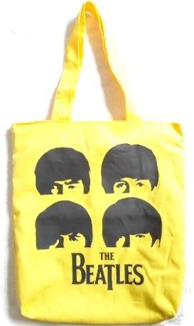 Bolsa Beatles Sacola Grande Amarela Escolar Ou Passeio