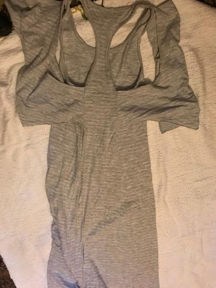 Vestido Osklen Longo Cinza Tecido Moleton