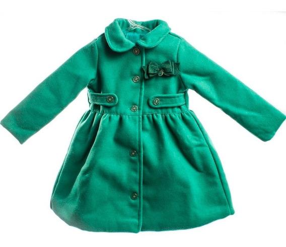 Casaco Bebê Feminino Sobretudo Verde