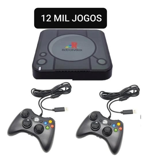Retro Game E Box 12 Mil Jogos + 2 Controles Xbox ( Só O Top)