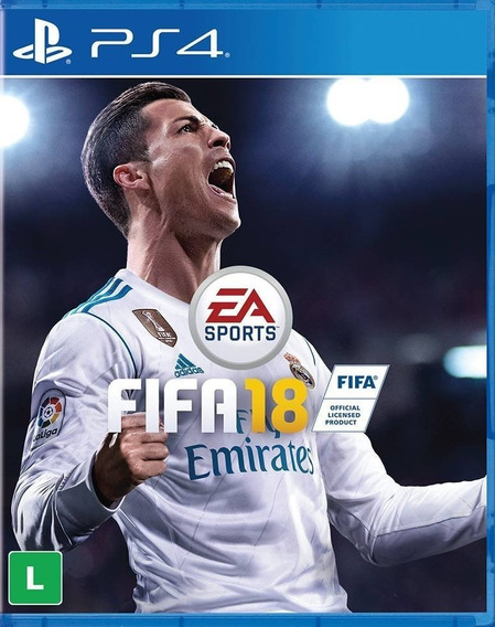 Jogo Fifa 18 2018 Playstation 4 Ps4 Português Mídia Física