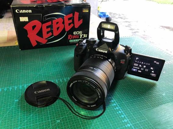 Canon Eos Rebel T3i Com Lente 18-135mm