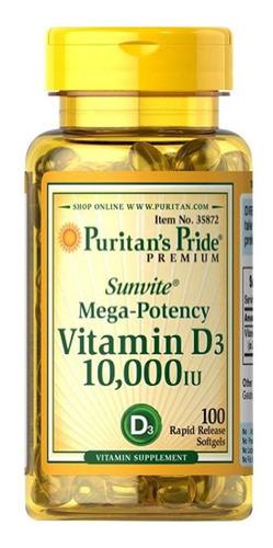 Vitamina D3 10.000iu X100 Softgel- Mejora Sist. Inmunologico