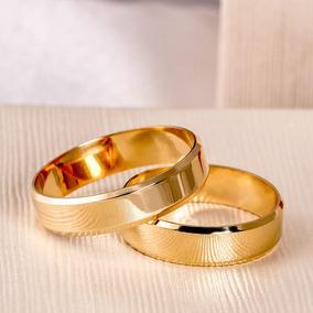Par Alianças Ouro 10k Legítimo Casamento 4mm 4 Gramas