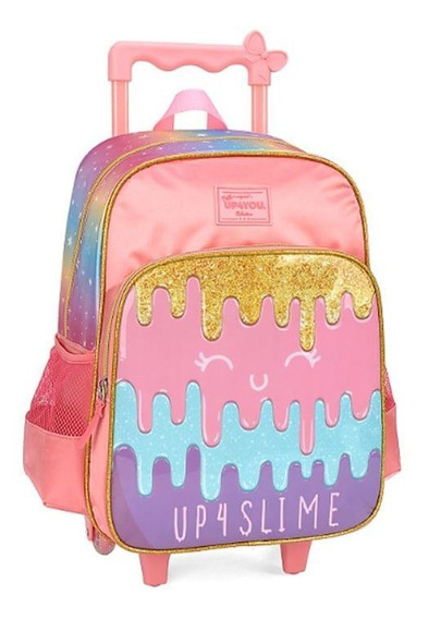 Mochila Rodinha Up4you Slime Escolar 011607