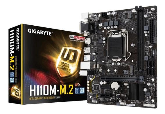 Placa Mãe Ga-h110m-m2-cf Ddr4 Para Intel Lga-1151