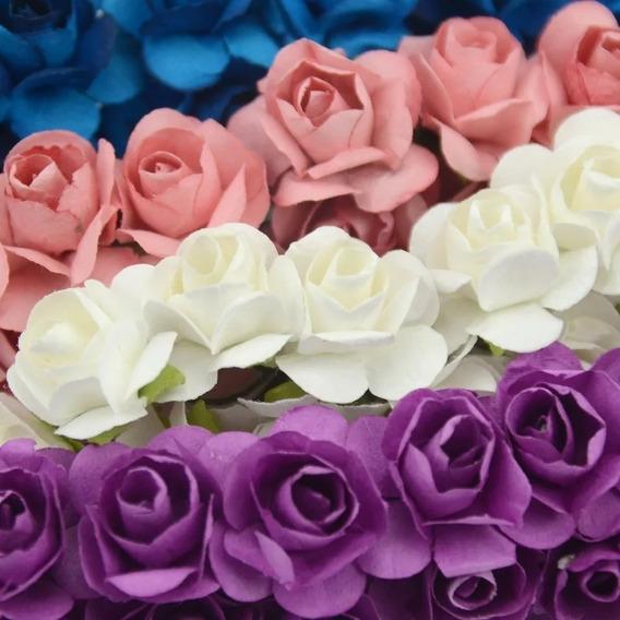 Flores Artificiales De Papel X 10 Docenas