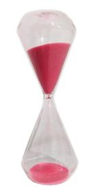 Ampulheta De Vidro 15 Minutos Importada - Várias Cores