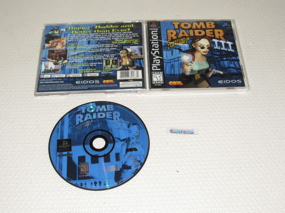 Tomb Raider 3 Original Playstation One Black Label