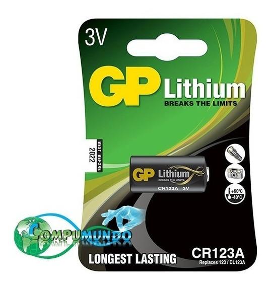 Bateria 3v Gp Lithium Cr123a