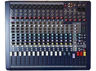 Consola Mixer 12 Canales Venetian Audio Mfx 12/2 Efectos Cjf