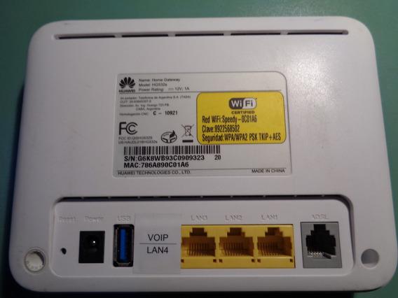 Modem Router Wifi Huawei Hg532s + Transformador