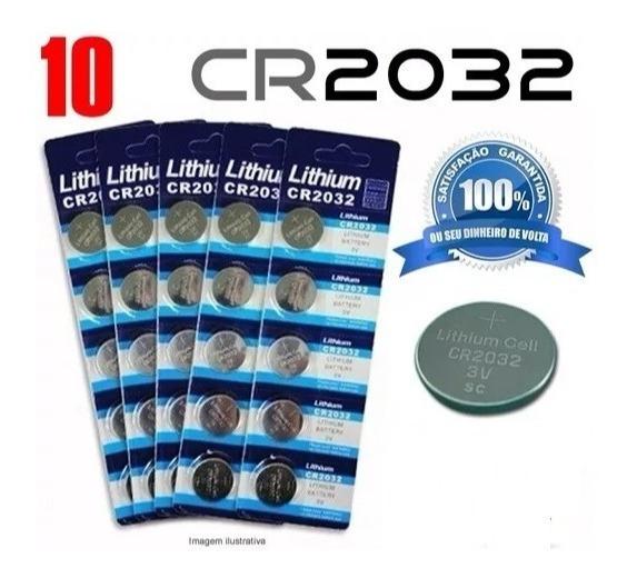 Bateria Cr2032 3v Unidade, Placa Mãe,calculadoras Hp,10 Unid