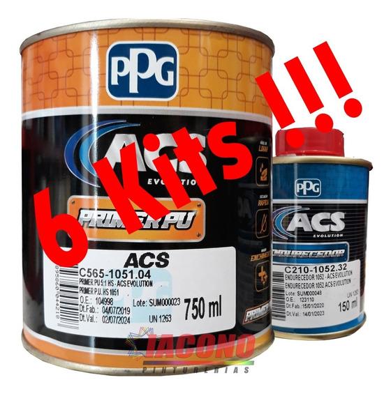 Kit Primer Ppg 2k 1051 C/cat (x 6 !!) Iacono