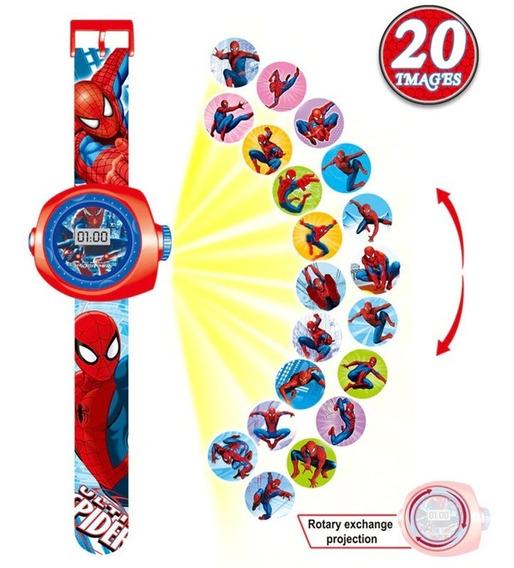 Relógio Infantil Projetor 3d Homem Aranha