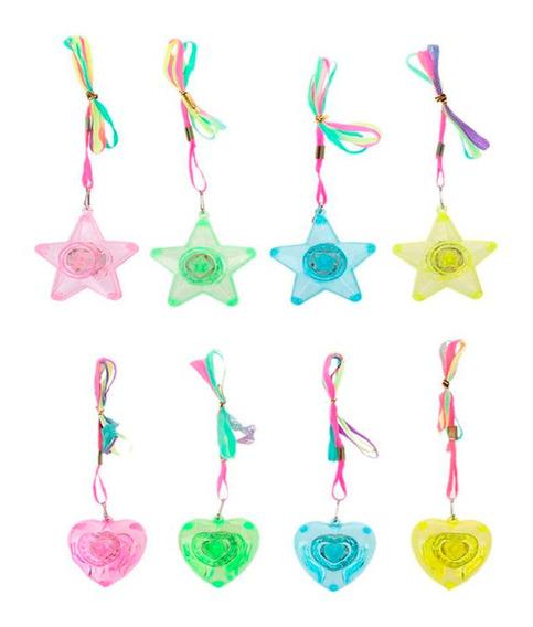 10 Collares Dije Luminoso Luz Led Fiesta Multicolor Neon