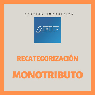 Recategorización Monotributo - Declaración Mensual Ing Brut