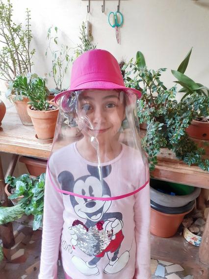 Chapéu Infantil Protetor P/ Rosto C/ Viseira Anti-gotículas.