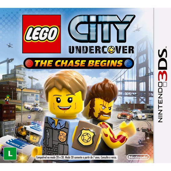 Jogo Mídia Física Lego City Undercover Para Nintendo 3ds